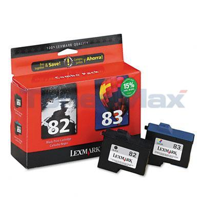 LEXMARK Z1380 NO. 82 83 INK CART CMYK